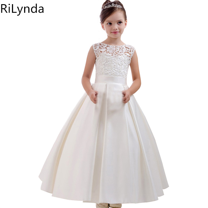 Flower     Girl     Dresses   Holy Communion   Dress   White Blue Tulle Vestidos Pageant   Dresses   For Little   Girls   Ball Gown 2-14Y