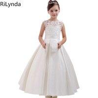 Flower Girl Dresses Holy Communion Dress White Blue Tulle Vestidos Pageant Dresses For Little Girls Ball Gown 2 14Y