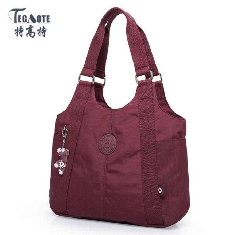 TEGAOTE New Waterproof Women Bag Double Shoulder Bag Designer Handbags High Quality Nylon Female Handbag Bolsas Sac A Main Bolsa