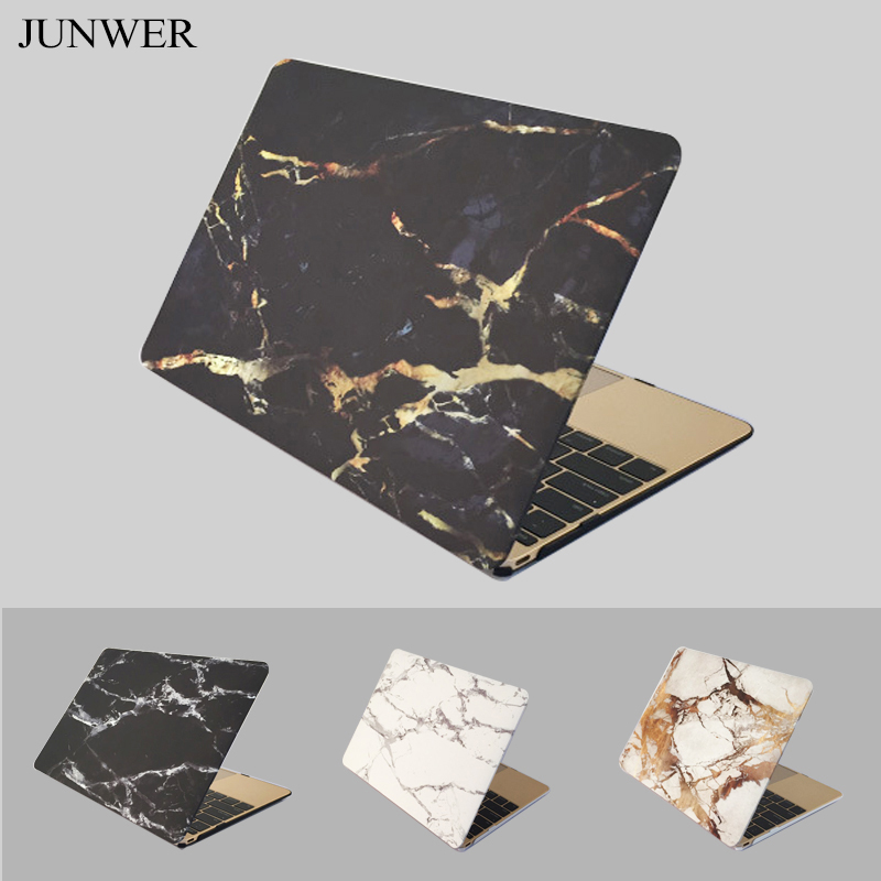 JUNWER Marble Texture Case For Apple Macbook Air Pro Retina 11 13 15 Inch laptop bag case For Macbook pro 13 Cover Case notebook bag 12 13 3 15 6 inch for macbook air 13 case laptop case sleeve for macbook pro 13 pu leather women 14 inch