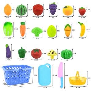Image 4 - Jouets de cuisine pour enfants, en plastique, pour couper des fruits et légumes, cuisinier Cosplay, jouets éducatifs de sécurité, P20 6 pièces/ensemble