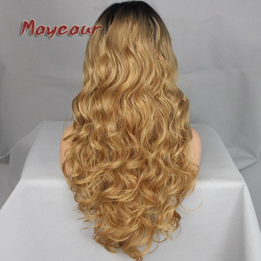 180 täthet långa vågor med naturliga hår syntetiska snörning - Syntetiskt hår - Foto 6