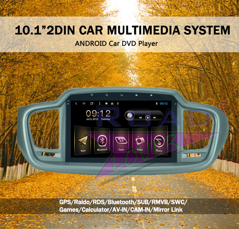 car android 1 din For KIA Sorento 2015
