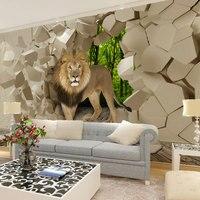 Beibehang sư tử bằng đá tường nền đồ họa murales hình nền cho trai phòng khách papel de parede 3d giấy tờ tường trang trí