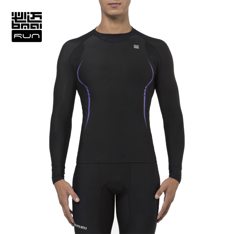 ФОТО BMAI Man&Woman Compression Shirt Running Tights Fitness Long Sleeve Outdoor Moisture Quick-drying T-shirt#Lovers