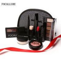 FOCALLURE 8 PCS Makup Tool Kit Make Up Cosmetics Including Eyeshadow Matte Lipstick With Makeup Bag