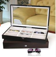 12 Sunglasses display box Glasses organizer Women sunglasses case Storage box wooden packaging Glasses eyewear box holder