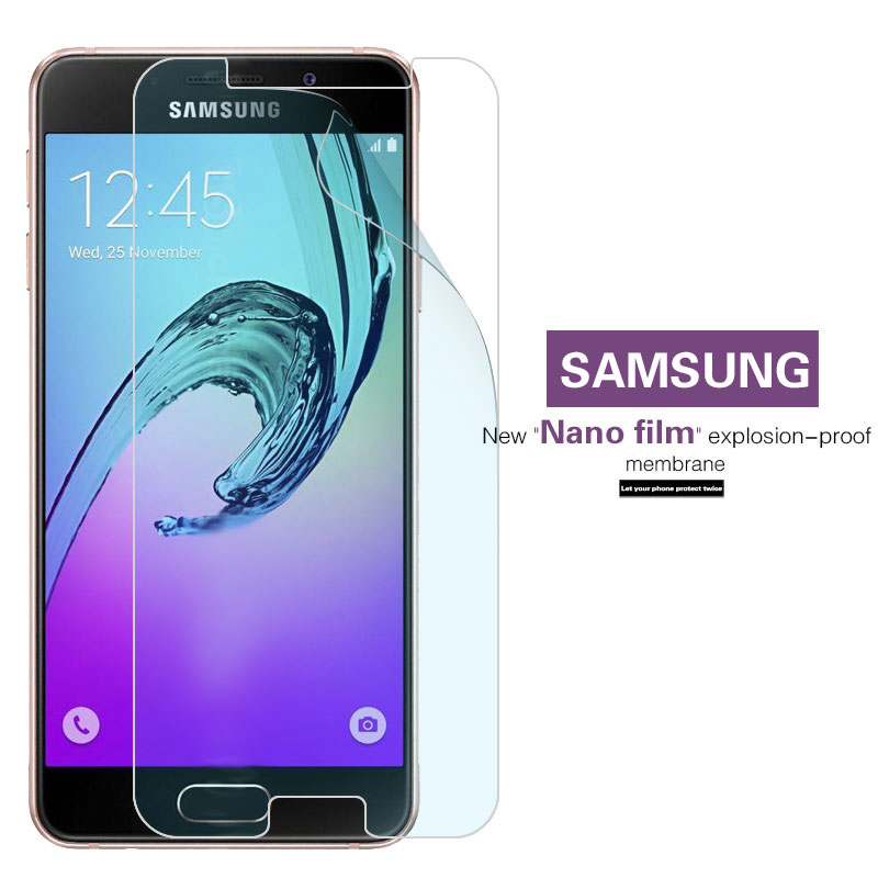 Best Explosion-proof Nano Soft Film For Samsung Galaxy A3 A5 A7 A8 2016 A3 A5 A7 2017 Anti-shatter Screen Protector Films Cover image