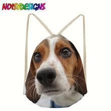 3D Beagle printing Women drawstring backpack Dog Pattern Mochila Bolsa man bags Travel Storage Package school bag