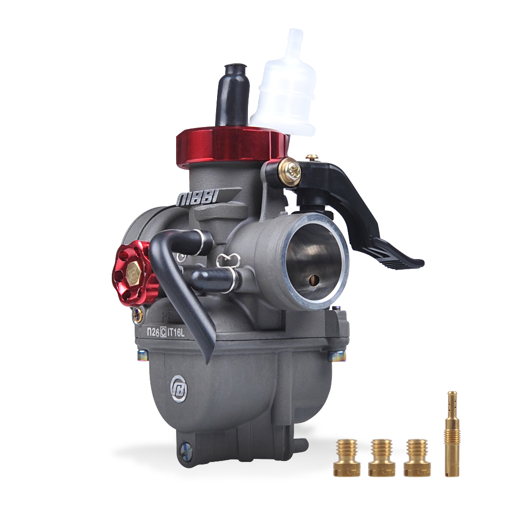NIBBI Motorcycle Racing Performance Carburetor  PE26mm for GY6125 Scooter Moped CG125 ACE125 TTR125 Mini Bike Dirt Bike carburetor for jinlang 250 water cooling scooter and motorcycle