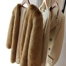 New Style High-end Fashion Women Faux Fur Coat 17S33