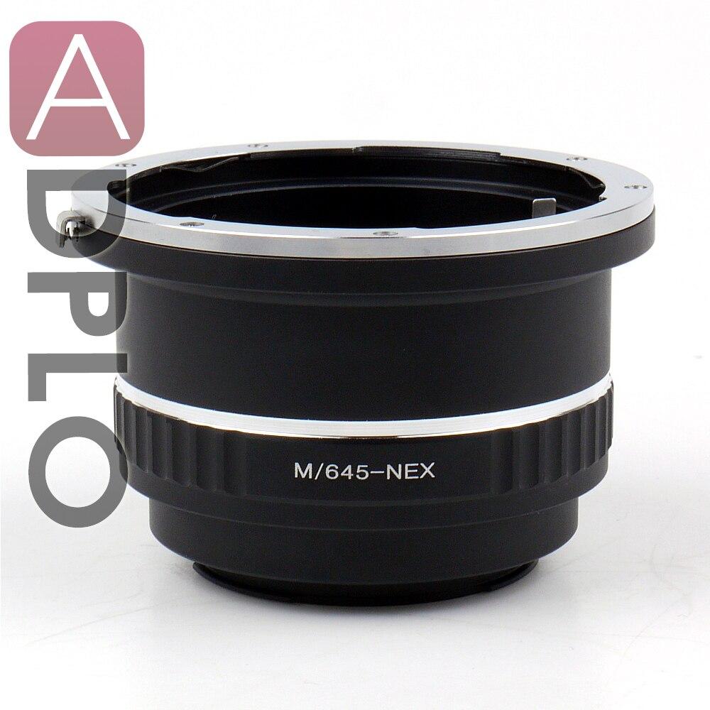 Nouvel adaptateur d'objectif pour objectif Mamiya 645 à Sony E Mount NEX Camera
