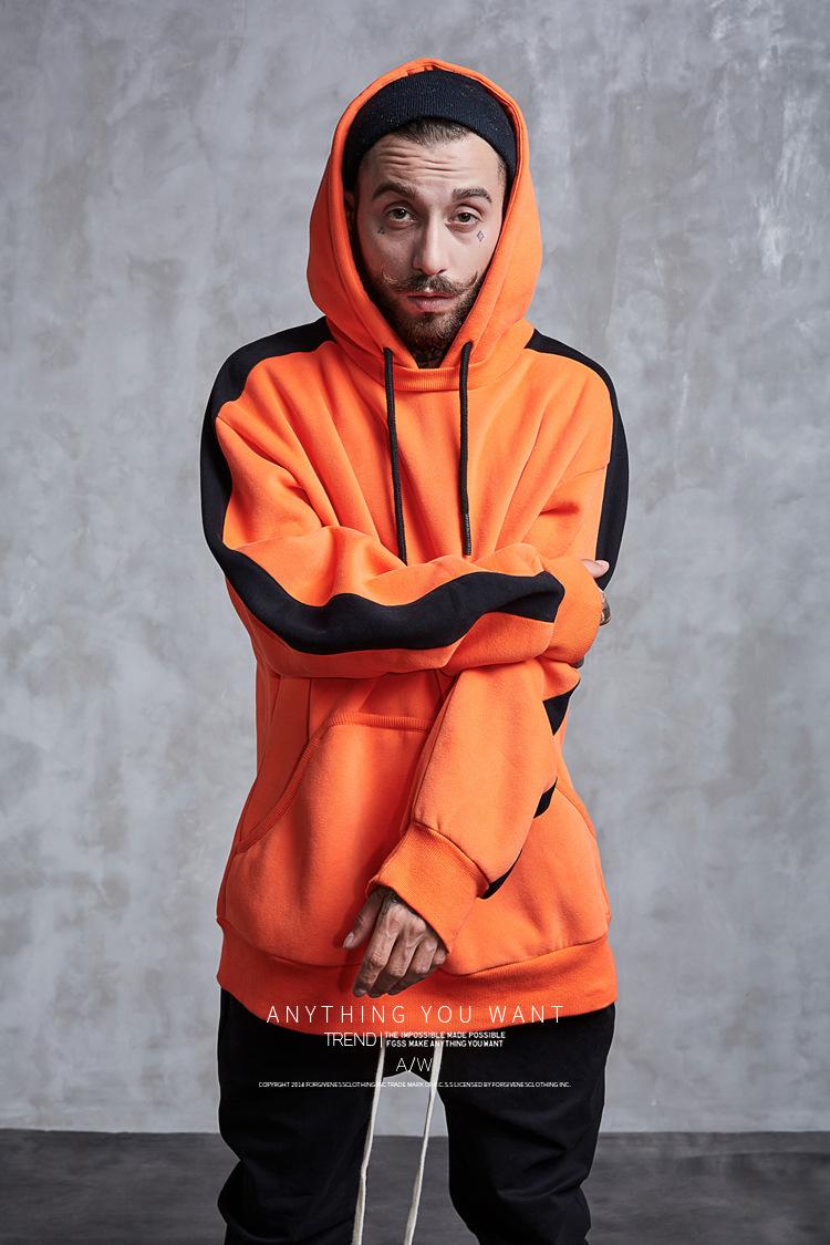 Aolamegs Hoodies Men Side Striped Hood High Street Pullover Cotton Fashion Hip Hop Streetwear Casual Big Pocket Hoodie Autumn (17)