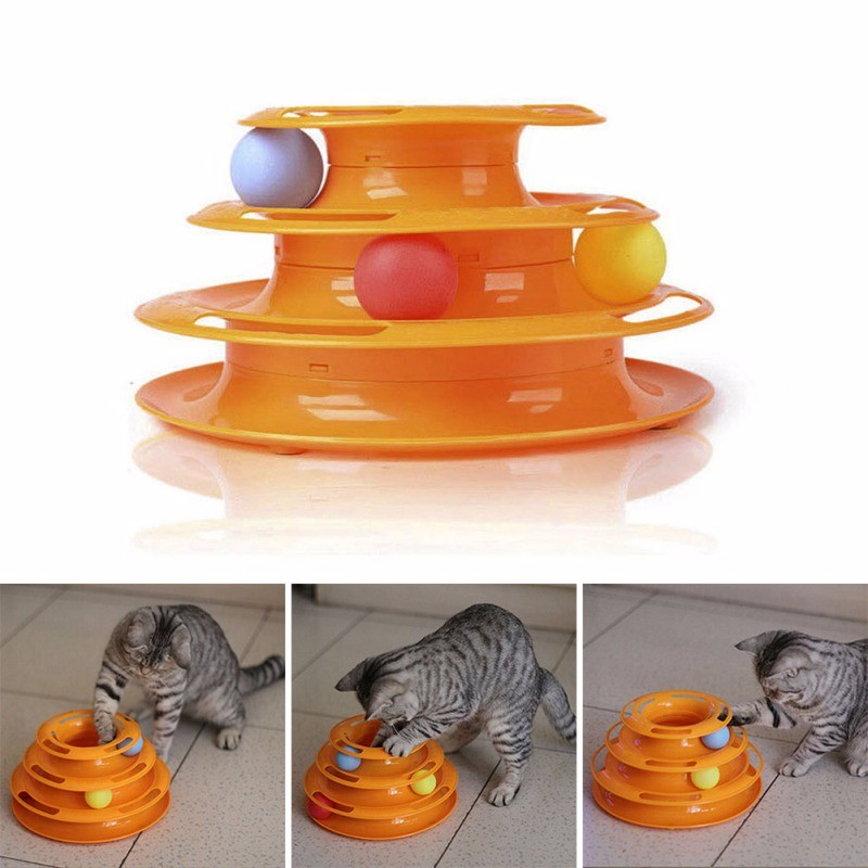 Top Quality Funny Triple Play Disc Cat Toy cat toys Cat Toys-Top 20 Cat Toys 2018 HTB1xWEOOXXXXXaxaXXXq6xXFXXXE