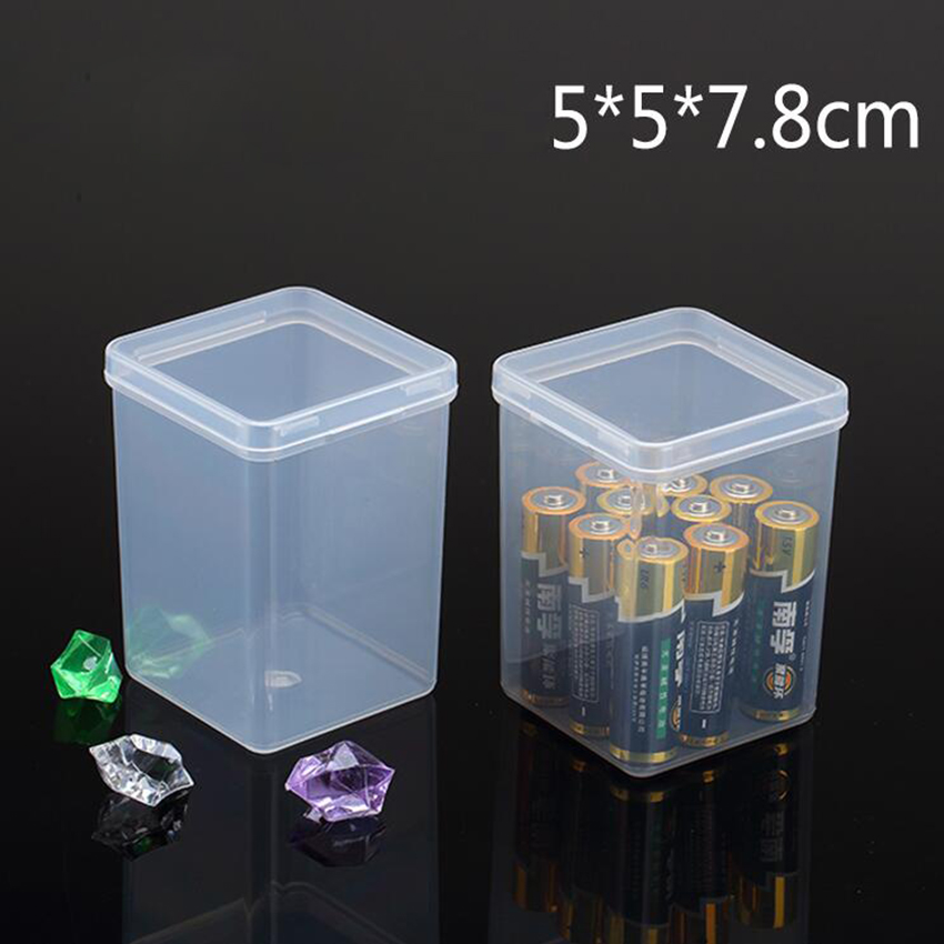 1pc PP Clear Plastic Small Storage Shoes Craft Supplies Tools Parts Box With Lid