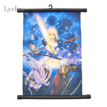 Lychee Japan Anime Scroll Painting Home Decoration Wall Picture Poster Fairy Tail Axis Powers Re0 Rem Kamisama Love Haikyuu!!(China)