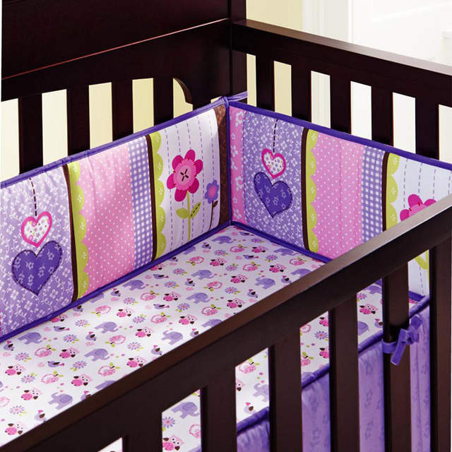 Online 8pieces Cotton Baby Crib Bedding Set Quality Purple Owl Newborn 100 Cot Nursery Aliexpress Mobile