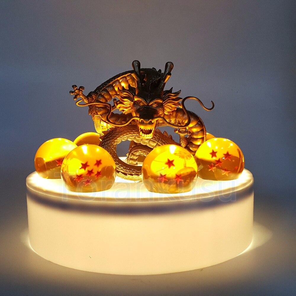 Figurine Dragon Ball Z forme boule de cristal doré modèle PVC jouet animé Dragon Ball Super Drgaon avec Base DBZ poupée DIY145