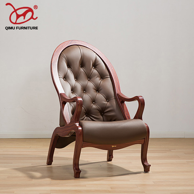 Elegant Back Rest Chair Solid Wood Chair Silla Chaise For The Living
