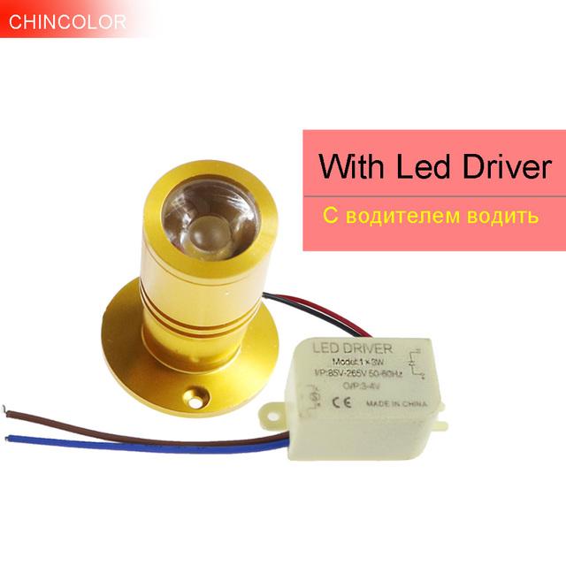 1pcs 1W 3W LED Spotlight Mini led spot light ceiling Down lighting Adjustable angle Warm White Cabinet Lamp bulb AC85-265V IQ