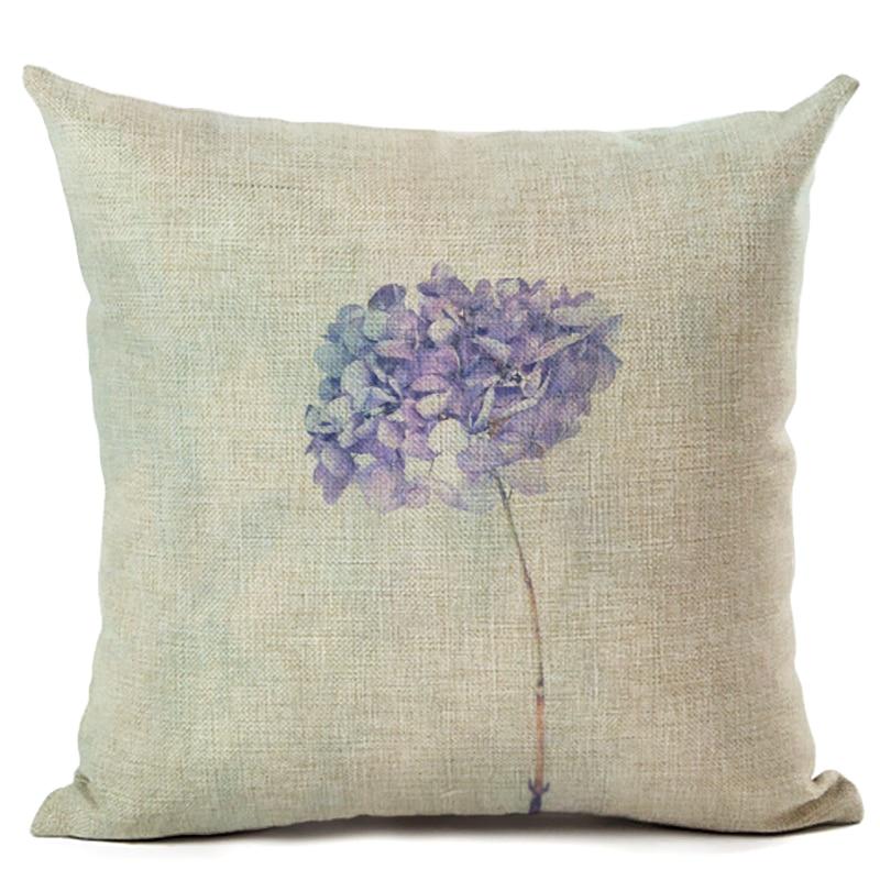 New Hot Selling Retro Flower Cushion Cover Decorative Sofa Throw Pillow Car Chair Home Decor Pillow Case almofadas