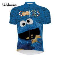 Los hombres ciclismo jersey pro equipo azul maillot ciclismo ropa bici de la bicicleta mtb bicicleta jersey ciclismo ropa de dibujos animados divertido jersey 6516