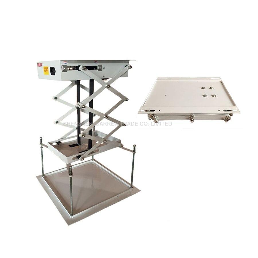 1 pz 70 CM staffa Proiettore motorizzato forbici elevatori elettrici proiettore montaggio a soffitto proiettore ascensore con telecomando