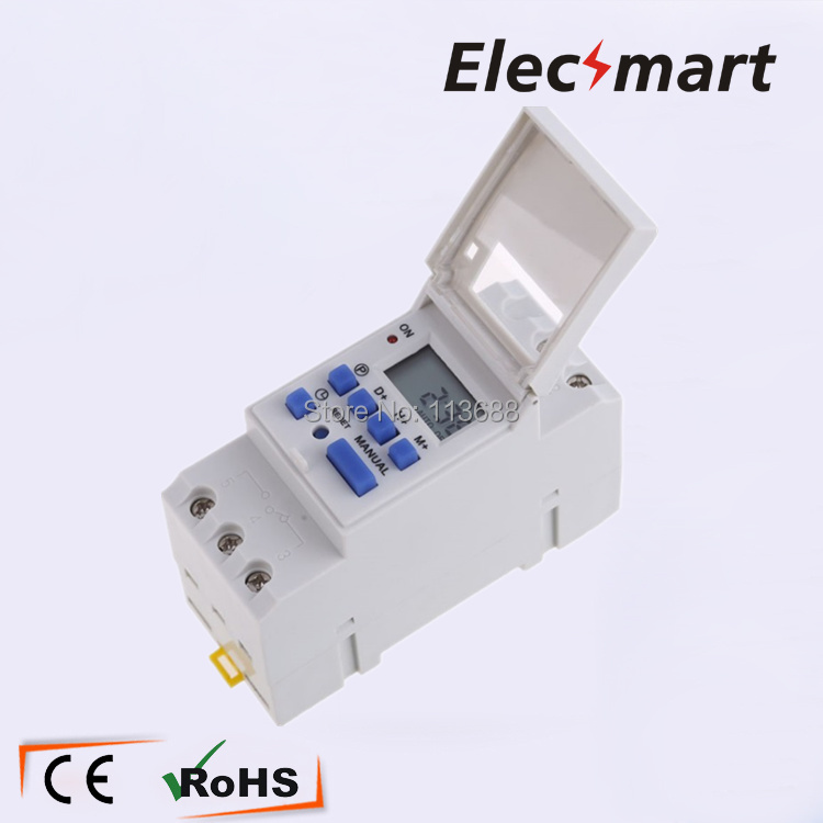 Microcomputer Electronic Din Rail Mount Time Relay Control 180-260V 16A AHC15A Weekly 24h/7d Programmable Digital Timer thc15a zb18b timer switchelectronic weekly 7days programmable digital time switch relay timer control ac 220v 30a din rail mount