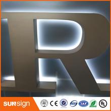 DIY łatwa instalacja podświetlany diodami led podświetlane szyldy z liter tanie tanio shsuosai CN (pochodzenie) acrylic led leterr sign 0043