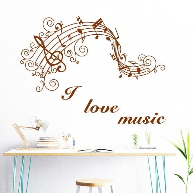 New Art Music Note Wall Sticker