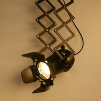 Industrial Ceiling Lamp E27 Spot Bulb Holder Vintage Stretchable Ceiling Light For Bar Loft Restaurant Clothing Shop Showroom