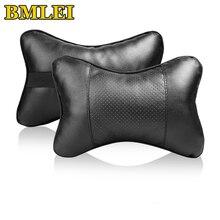 Новые мини-подушки для шеи из искусственной кожи, удобные универсальные автомобильные подушки для головы и шеи, подушка подголовника