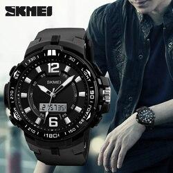 Skmei 2018 marca de luxo relógios masculinos multifunções led quartzo digital relógios de pulso moda masculina relógio esporte à prova dwaterproof água