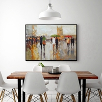 Landscape Oil Painting for Living Room Wall Art Knife Painting Abstract Oil Handpainted on Canvas Christmas Decorations for Home