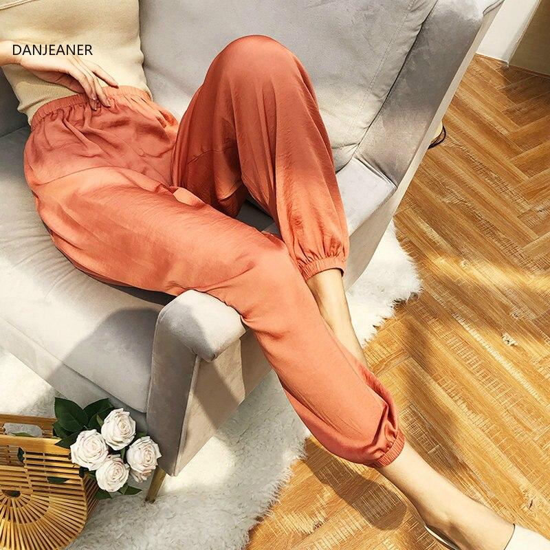 DANJEANER Slim Trousers Harem-Pants Fashion Streetwear Summer Casual High-Wasit Cool