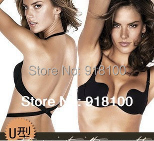 Deep U Low Cut Push Up And Backless Invisible Convertible Bra 1