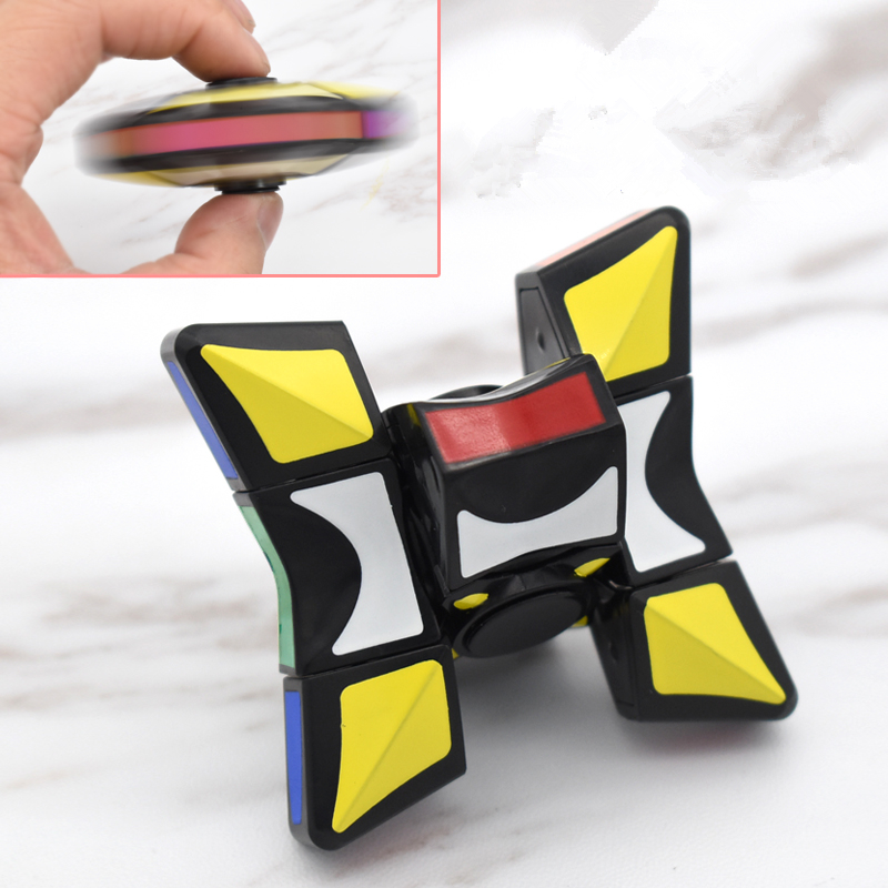 Funny Relax Toys Magic Cube 1x3x3 Three Layers Fidget Spinner Hand Spinner Cube Anti Stress Toys To Kid Adult Puzzle Fidget Cube