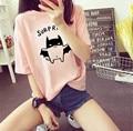 Summer plus size clothing mm top loose casual cartoon short-sleeve T-shirt female basic shirt
