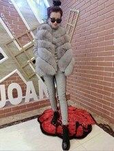 2015 Spring Winter Women Korea Fashion Luxury Faux Fur Vest  Imitation FoxFurs Waistcoat Women's wool coat vestsOvercoat S-4XL