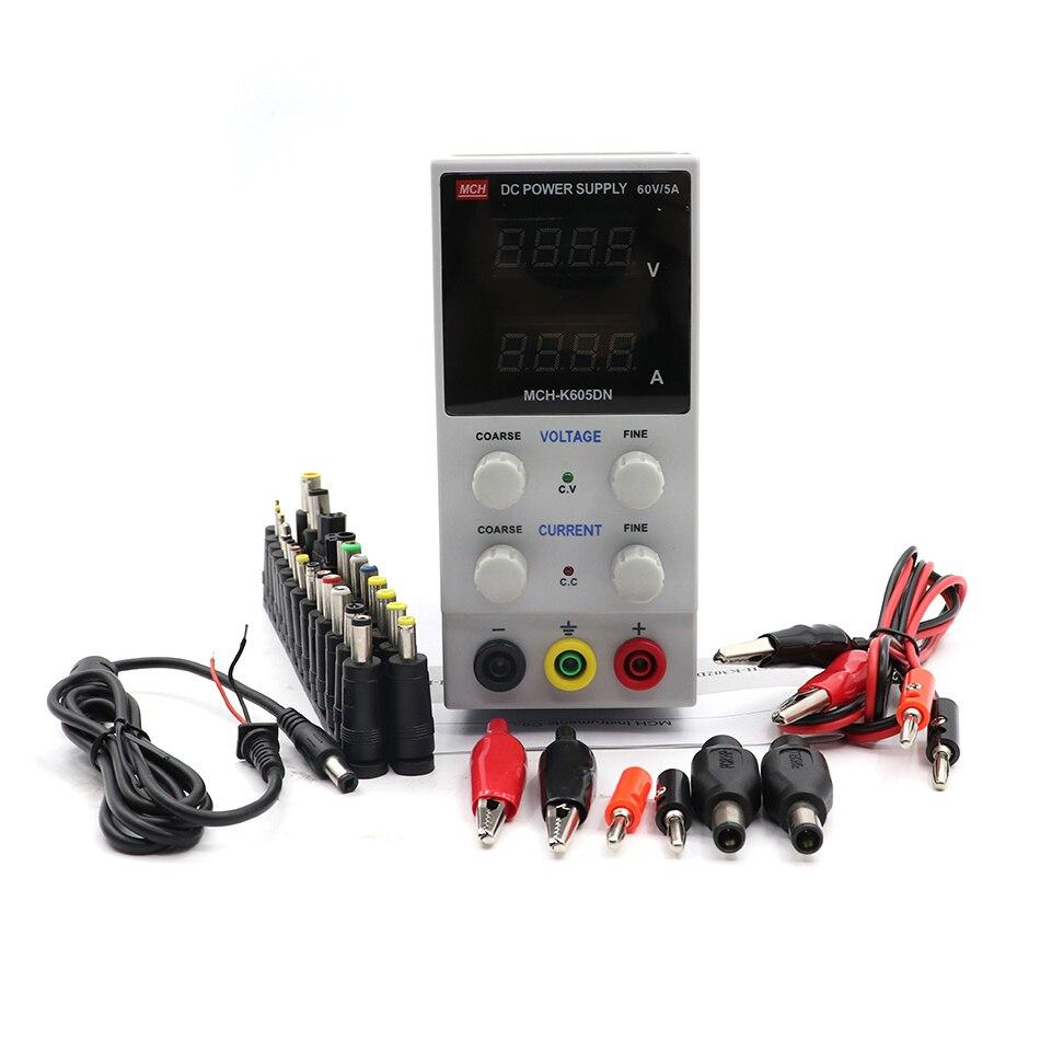 MCH-605DN DC alimentation numérique haute précision ampèremètre pour réparation de téléphone portable 605D banc alimentation