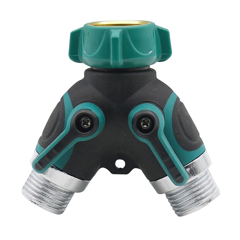 Y-shaped Hose Pipe Water Separator Double Tap Adapter Valve Diverter Splitter