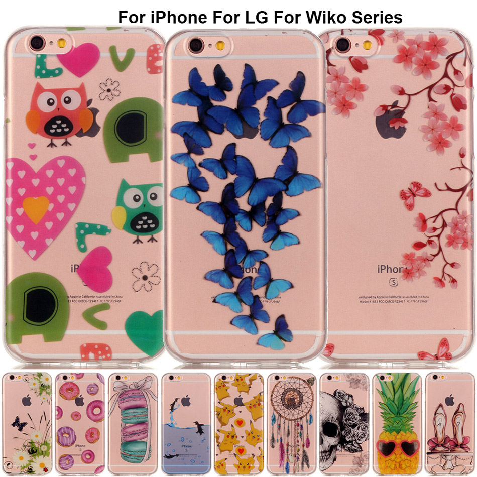 B67 Luxury Back Soft Silicon Phone Case for iPhone 8 7 Plus 5 5S SE Touch 6 Cases Full Cover For Wiko Rainbow Jam 4G Shell Coque ...