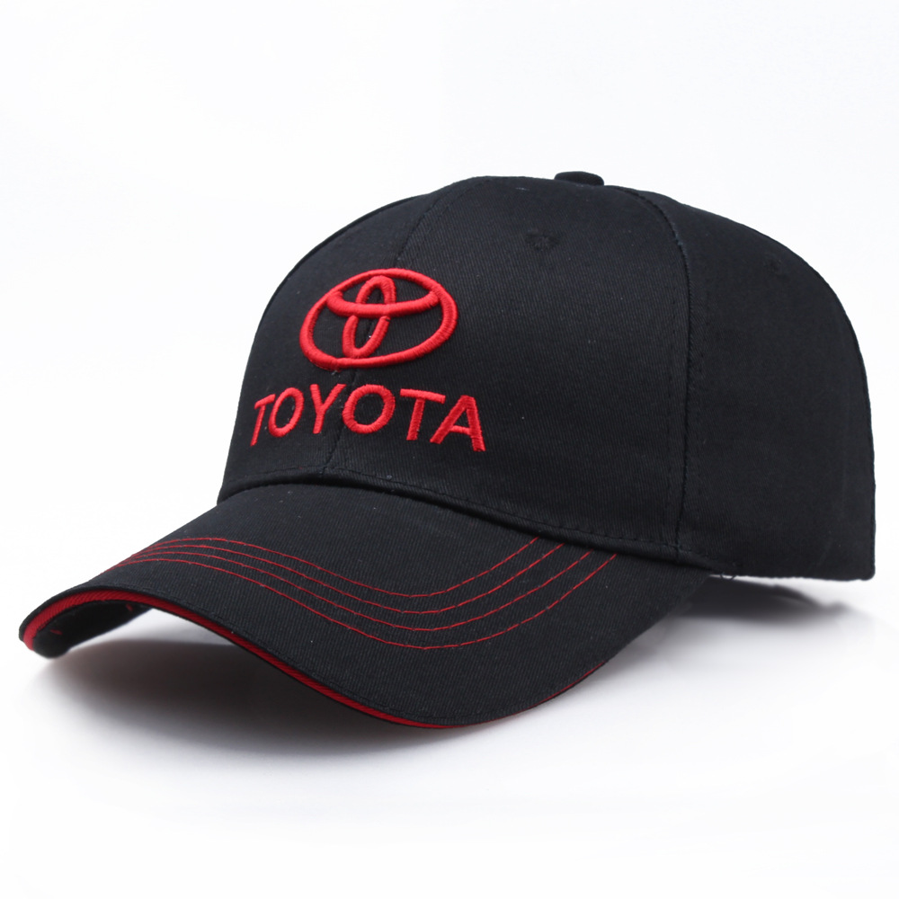 Wholesale car logo hat cotton high-grade fabric racing   cap   for toyota motorcycle hat sports   baseball   hat