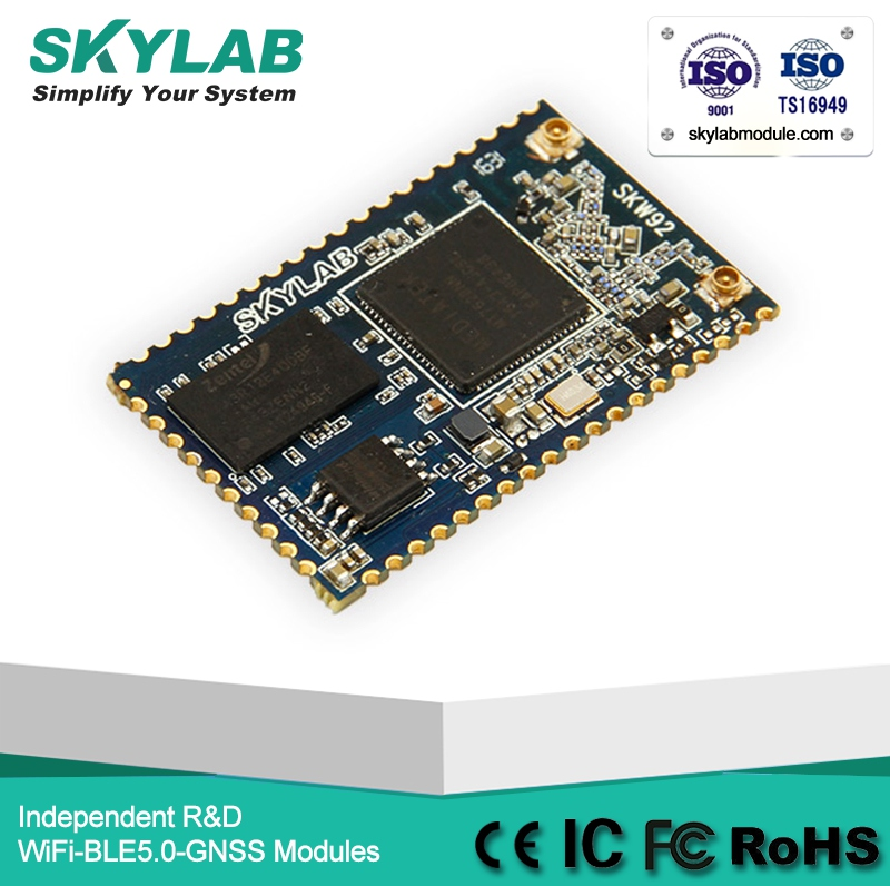 Skylab Skw92A Spi / I2S / I2C 32MB flash 1024Mb RAM DDR2 Openwrt 2T2R Mimo Mtk Mt7628 I WLAN Access Point Wifi Module