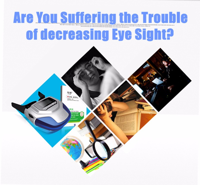 Rechargeable Myopia Cure Machine Short Eye Sight Recovery Device DC Battery Eyes Acupuncture Massaging Massager Laser Radiation  (3)