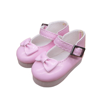 Tilda Butterfly Design Bow Tie Doll Boots PU Leather Shoes For BJD Dolls Toy 1 4