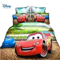 boy bedding set single twin size Lighting McQueen cars duvet cover 2/3/4 piece cartoon kids room decor disney pillow case linens