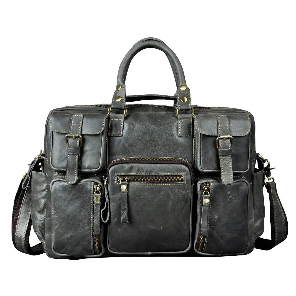 2012 fashion vintage galen häst läder handväska resväskan manliga - Väskor för bagage och resor - Foto 5