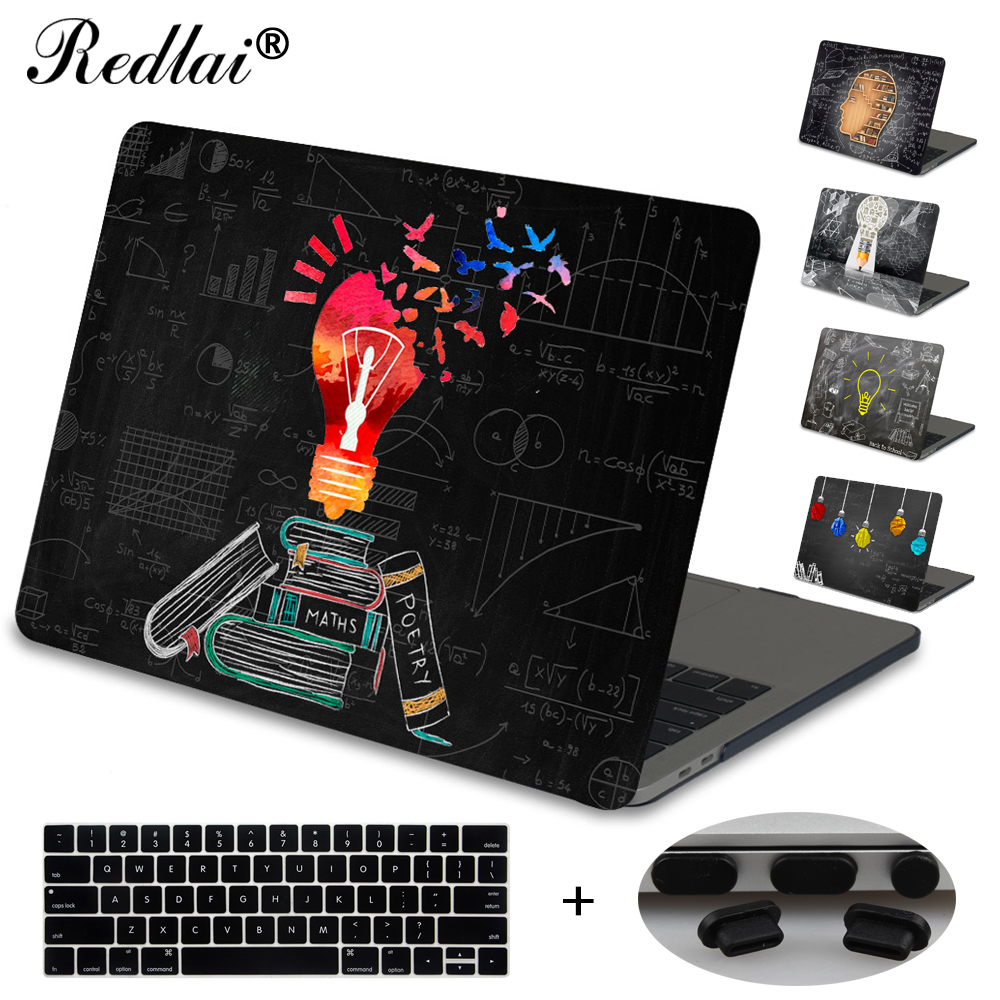 For Macbook New Pro 13 15 Touch bar Laptop Case For Mac Book Air Pro Retina 12 13 15 Creative Lamp Blackboard Print Hard Cover худи print bar марко поло