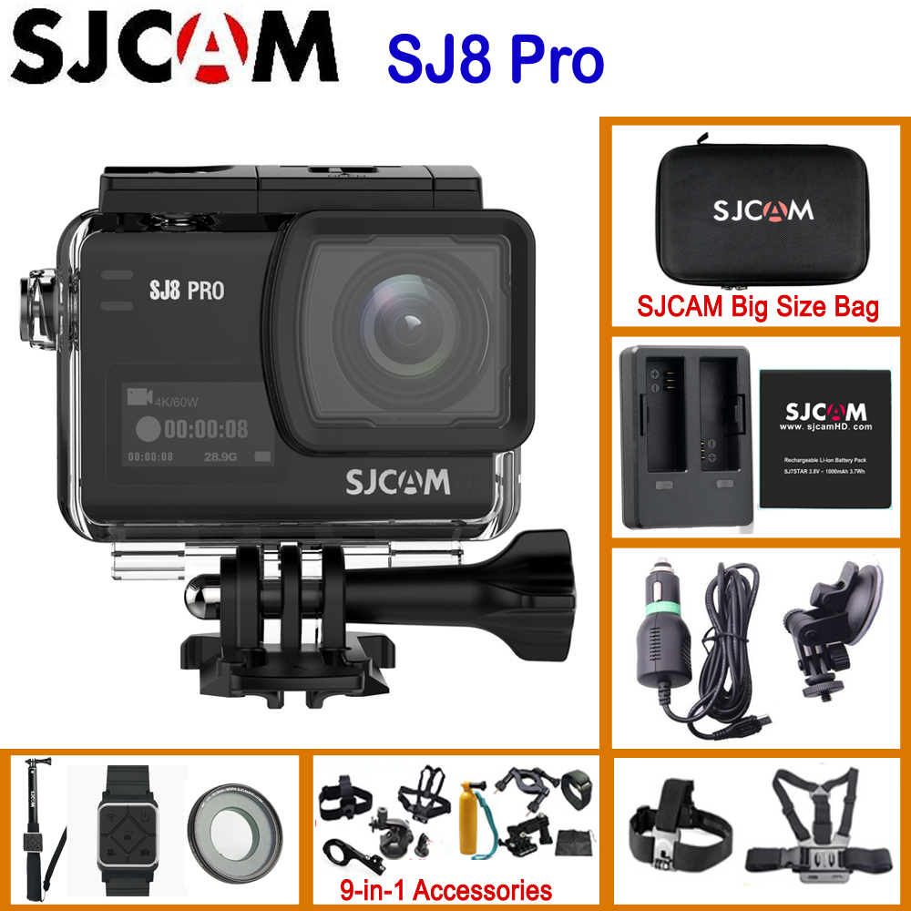 SJCAM SJ8 Pro SJ8 Series 4K 60FPS WiFi Remote Helmet Action Camera Ambarella Chipset 4K/60FPS Ultra HD Extreme Sports DV Camera applicatori di etichette manuali